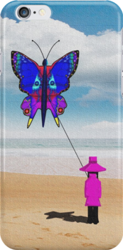 Girl with butterfly kite by sublimy99