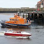 Whitby Lifeboat & Speed Boat by Woodie