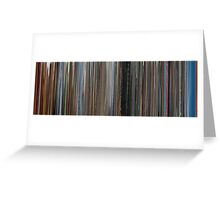 Moviebarcode: Koyaanisqatsi (1982) Greeting Card