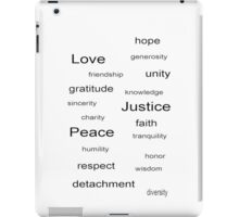 Love Peace Justice - White iPad Case/Skin