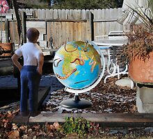 After leaving his earth sculpture in the garden overnight, Wes finds undisputed evidence of global worming. by Susan Littlefield