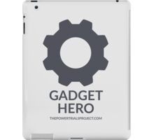 """Gadget"" Hero Logo - Light Background iPad Case/Skin"