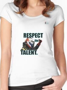 KR - Respect The Talent - Black Women's Fitted Scoop T-Shirt