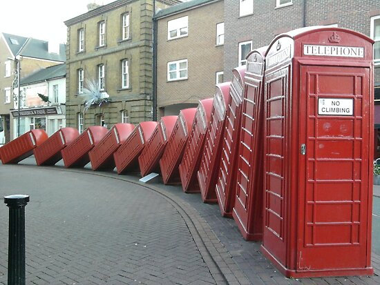 Red Telephone Box's by mrsmcvitty