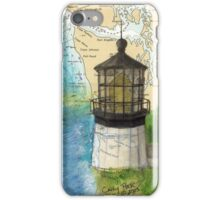 Cape Meares OR Lighthouse Nautical Map Cathy Peek iPhone Case/Skin
