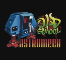 Old School Astromech - Front by Jeffery Wright