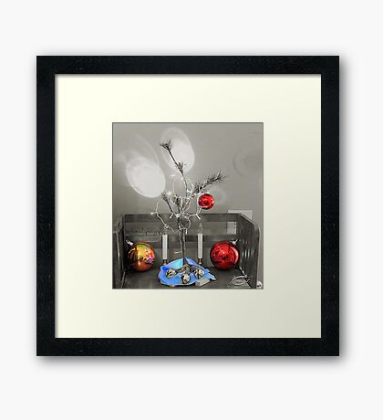 Charlie Brown Christmas colorized Framed Print