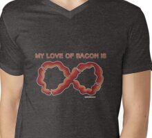 Baconfinity Mens V-Neck T-Shirt