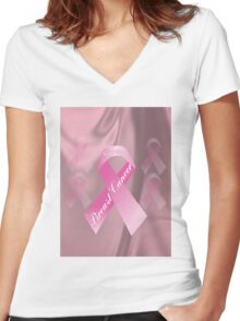 Breast Cancer Survivor T-Shirt Women's Fitted V-Neck T-Shirt