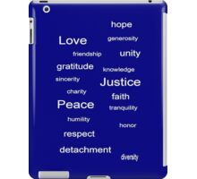 Love Peace Justice - Blue iPad Case/Skin