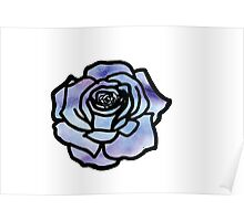 Watercolor Rose Poster