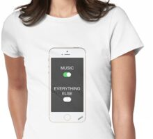 Music Over Everything Womens Fitted T-Shirt