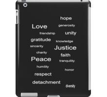 Love Peace Justice - Charcoal iPad Case/Skin