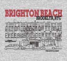 Brighton Beach Avenue Storefronts One Piece - Long Sleeve