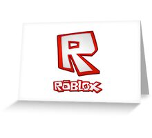 Roblox R Logo Greeting Card