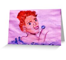 Love bubbles in my bath, watercolor Greeting Card
