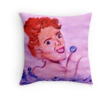 Love bubbles in my bath, watercolor Throw Pillow