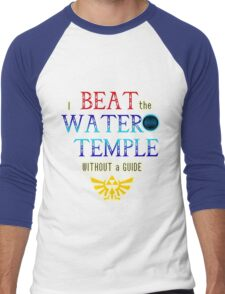 I beat the Water Temple Without a Guide Men's Baseball ¾ T-Shirt