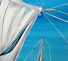 Sailboat sail Amel 1 Oil on Canvas Painting by SlavicaB