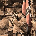 Confederate soldiers at the ready by Nicole  Scholz