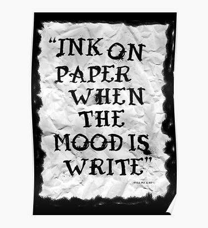 Ink on paper... Poster