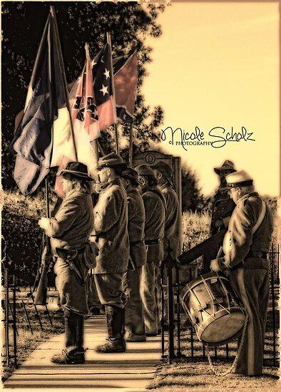 Confederate Color Guard by Nicole  Scholz