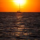 Sailing into the Sunset  on Tangier Island by Deb Snelson