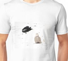 The crow and the owl Unisex T-Shirt