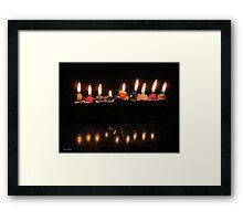 Last Minutes... Last Candle Framed Print