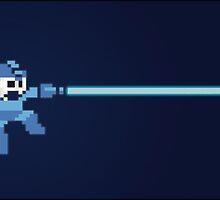 Mega Man pixel by JRDELIZER