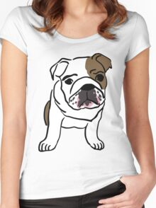 dog / chien Women's Fitted Scoop T-Shirt