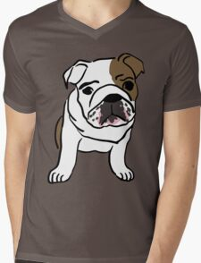 dog / chien Mens V-Neck T-Shirt
