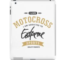 I Live Motocross Black and Brown Extreme Sports iPad Case/Skin