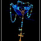 Blue Raspberry Martini & Rosary by ShannonElaine