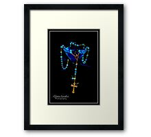 Blue Raspberry Martini & Rosary Framed Print