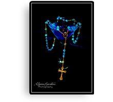 Blue Raspberry Martini & Rosary Canvas Print