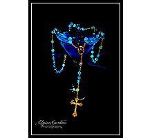 Blue Raspberry Martini & Rosary Photographic Print