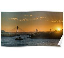 Sunset over Balmain Poster