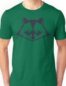 Navy Raccoon Head Unisex T-Shirt