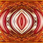 Fire And Ice Abstract by JMcCombie