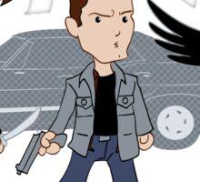 Sam, Dean, Castiel Sticker