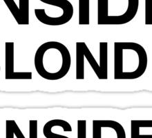 BLONDE INSIDE Sticker
