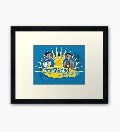 Troy and Abed in the Morning Framed Print