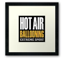 Hot Air Ballooning Extreme Sport Framed Print