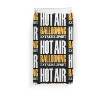 Hot Air Ballooning Extreme Sport Duvet Cover