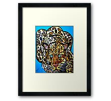 jaguar of the wild  abstract Framed Print