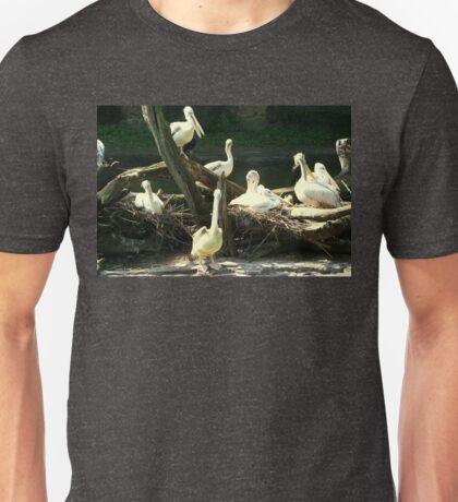 Group Of Pelicans Nesting Unisex T-Shirt