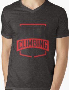 Rock Climbing Extreme Sport Mens V-Neck T-Shirt