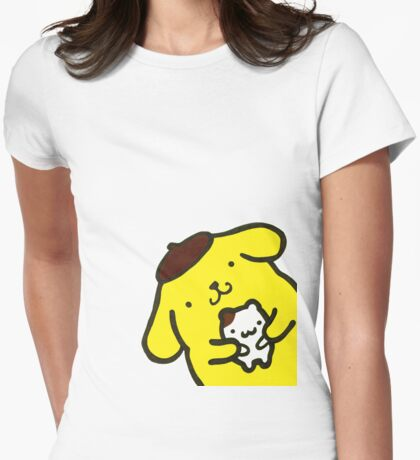 Purin the dog Womens Fitted T-Shirt