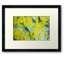 Yellow Peel Framed Print